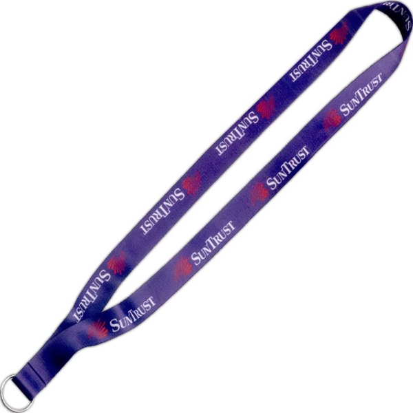 "3/4"" Imported Dye-Sublimated Lanyard with Split Ring"