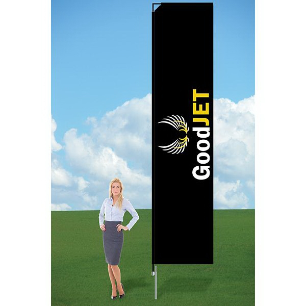 11ft Banner Flag with Ground Stake-single