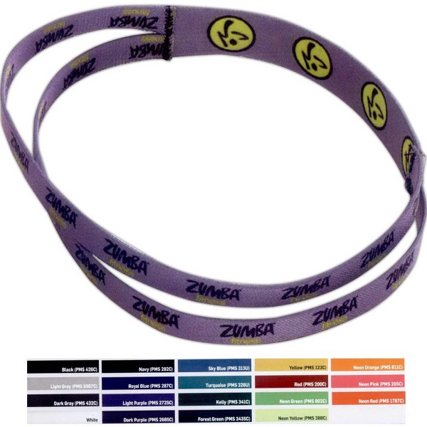 """1"""" Duel Part Stretchy Elastic Dye-Sublimated Headband - Duel part stretchy elastic dye-sublimated headband, 1""""."""