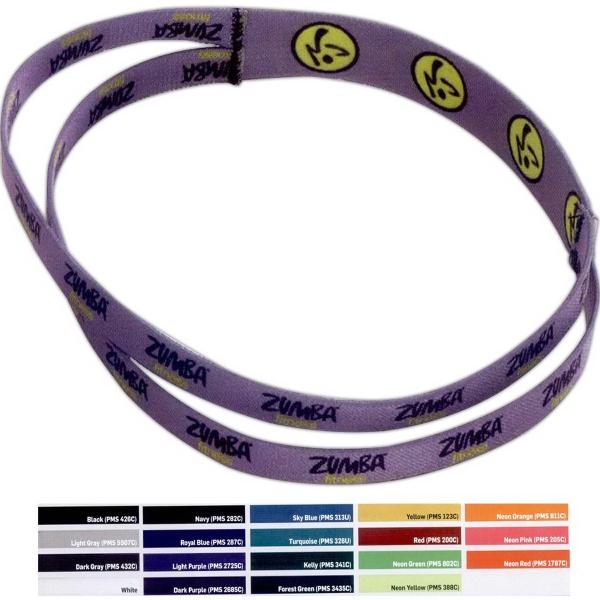 "1"" Duel Part Stretchy Elastic Dye-Sublimated Headband"