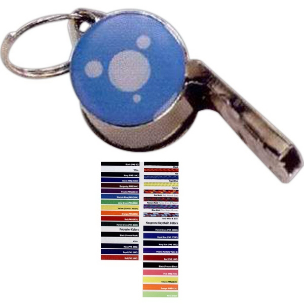 Metal Whistle with Dome Imprint