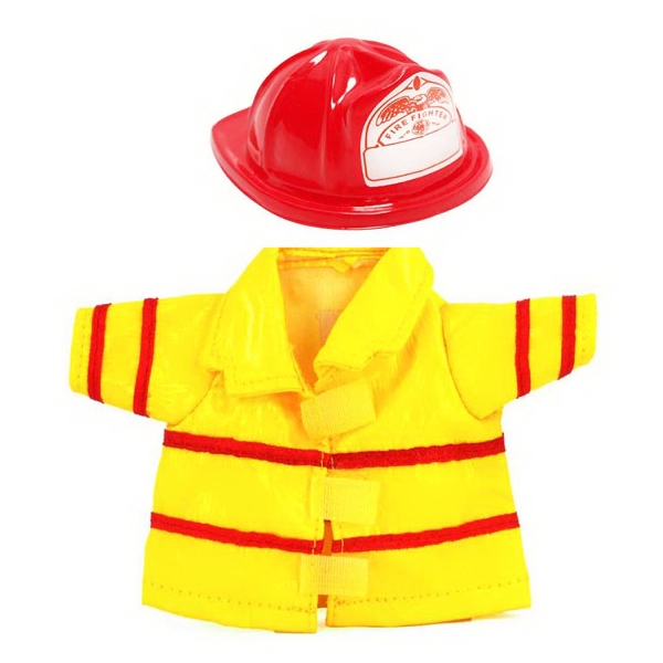 Small Vinyl Fireman Uniform for plush toy