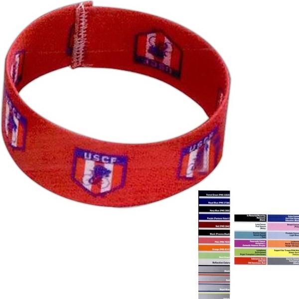 """1"""" Stretchy Elastic Sublimated Bracelet"""