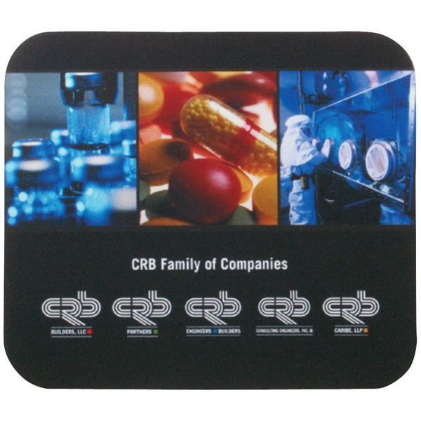 "7"" x 8"" x 1/16"" Full Color Soft Surface Mouse Pad"