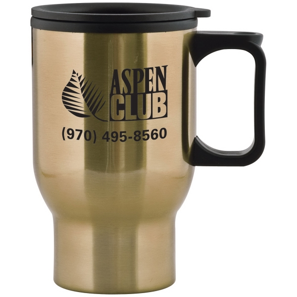 Aspen 15 oz. Stainless Steel Travel Mug