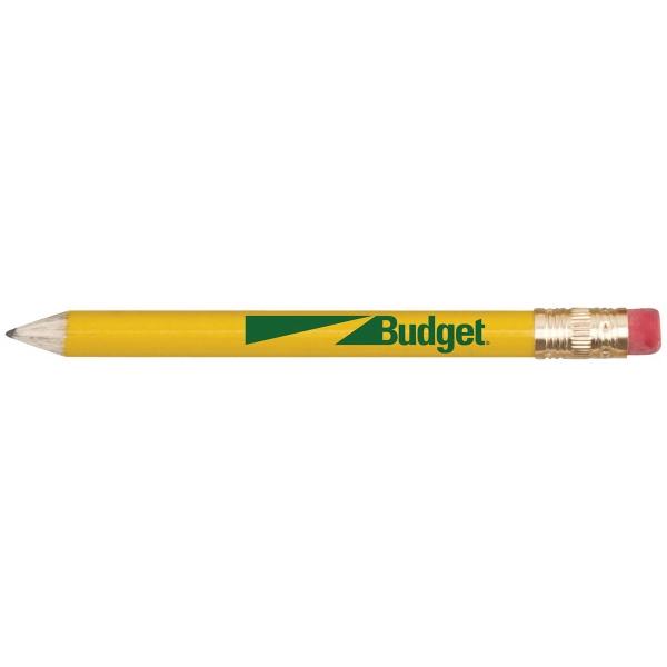 Round Wooden Golf Pencil w/ Eraser