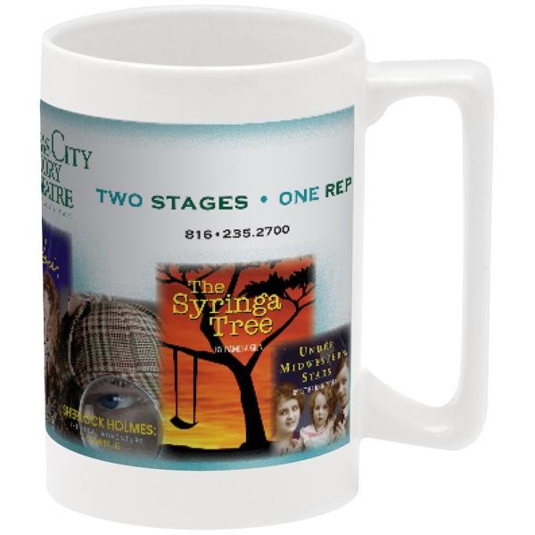 Full Color Stoneware Maui Mug - 15 oz