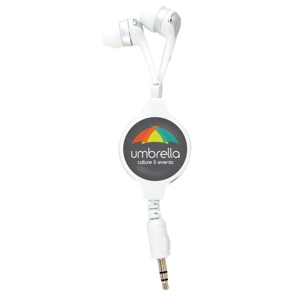 PhotoVision Premium Retractable Hi-Fi Earbuds