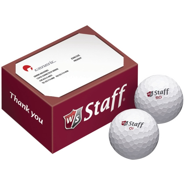 Wilson Staff 2-Ball Business Card Box