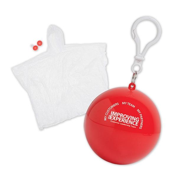 Rain Poncho in Ball Keychains