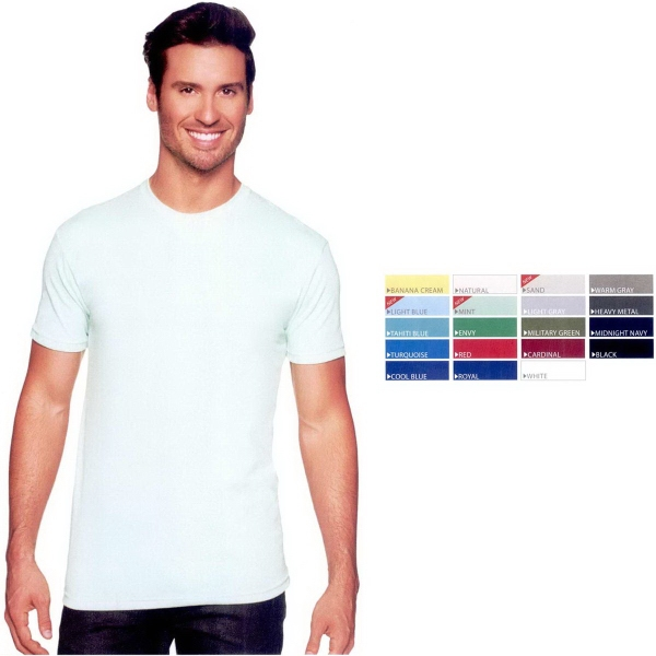 Premium Fitted Sueded Crew T-Shirt