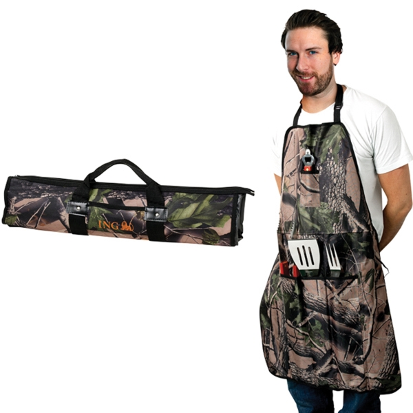 Camo 5 Pc BBQ Set