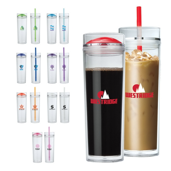 16 oz. Double Lid Hot / Cold Tumbler