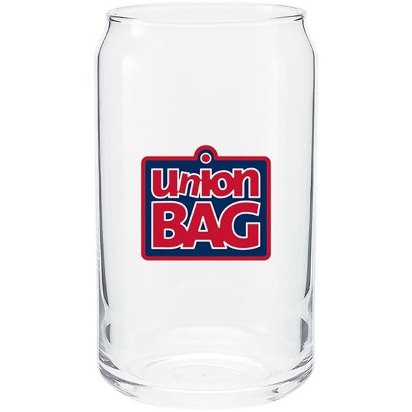 16 oz. Plain Glass Soda Can