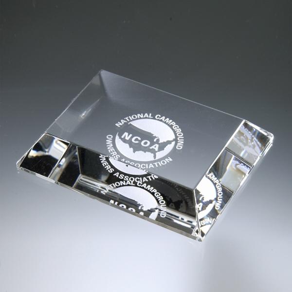 Award-Mitered Edge Paperweight