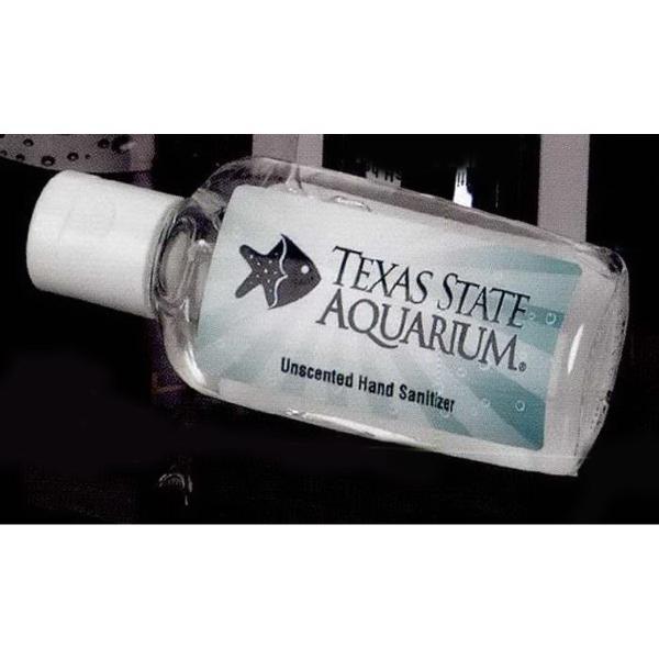 1 oz. Clear Gel Sanitizer in Oval Bottle