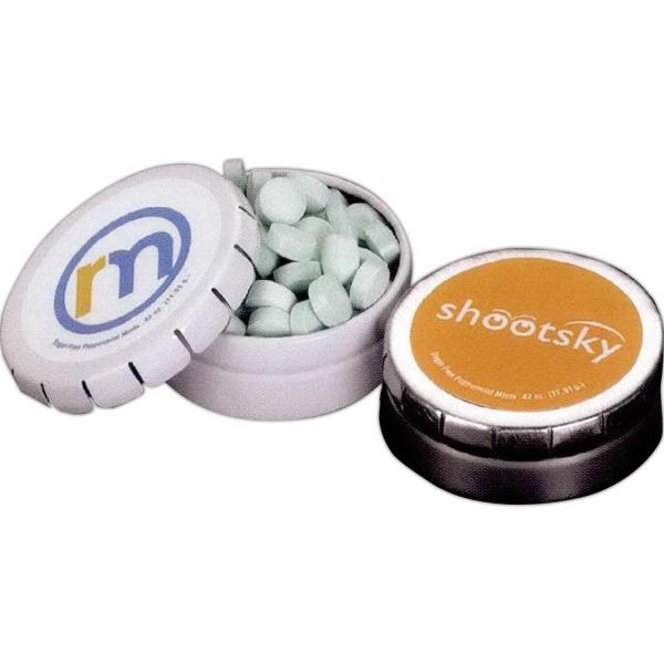 Small Round Mint Push Tin