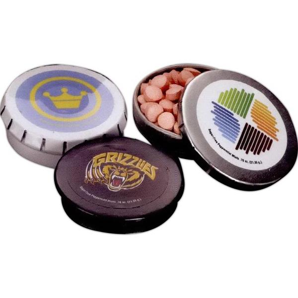 Large Round Mint Push Tin