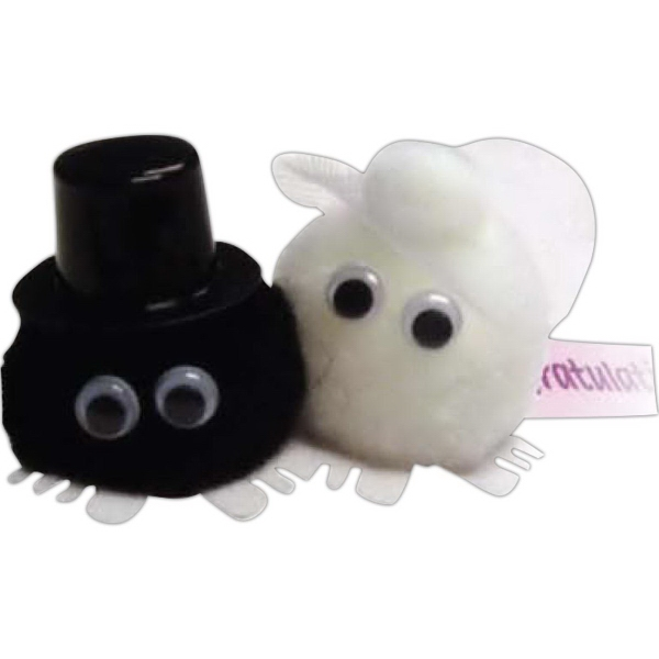 Bride & Groom - White Hat & Hand Weepul