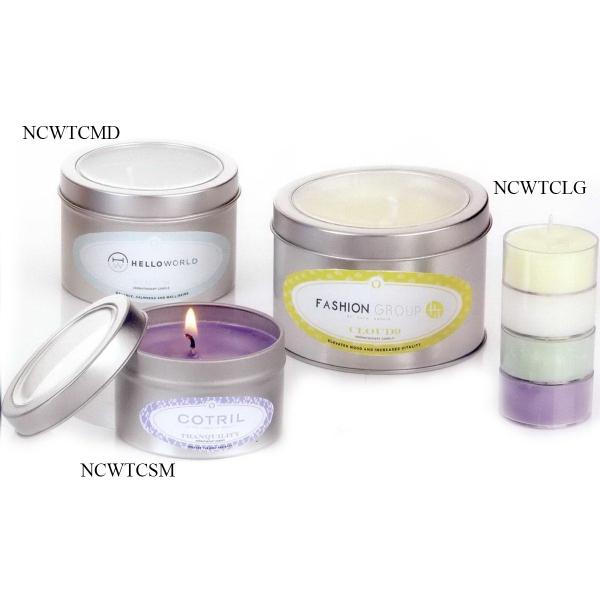 Aromatheraphy Candle in Medium Window Tin