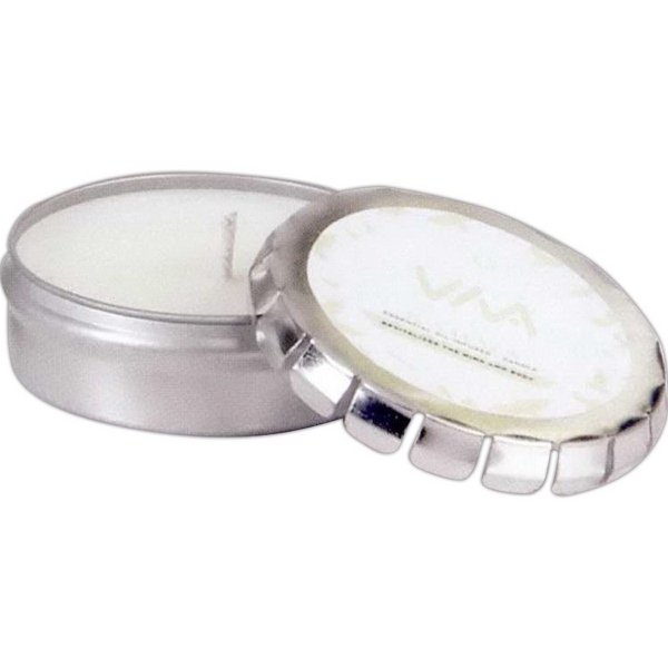 Aromatheraphy Candle in Large Silver Push Tin