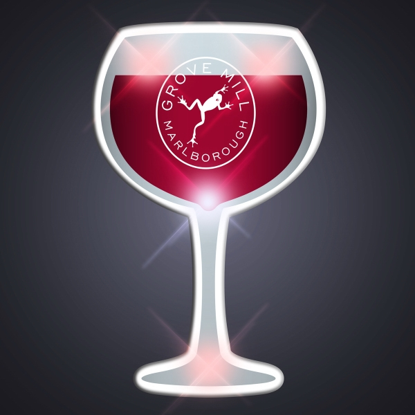 Wine Glass Pin Flashers Pins