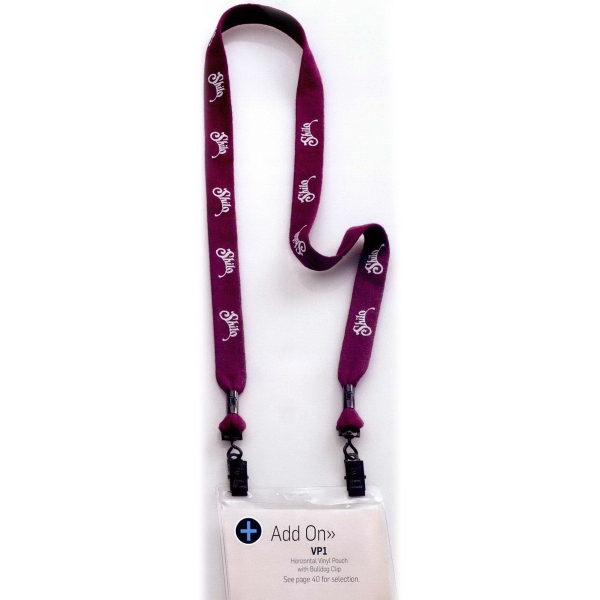 "3/4"" Polyester Double Ended Bulldog Clip Lanyard"