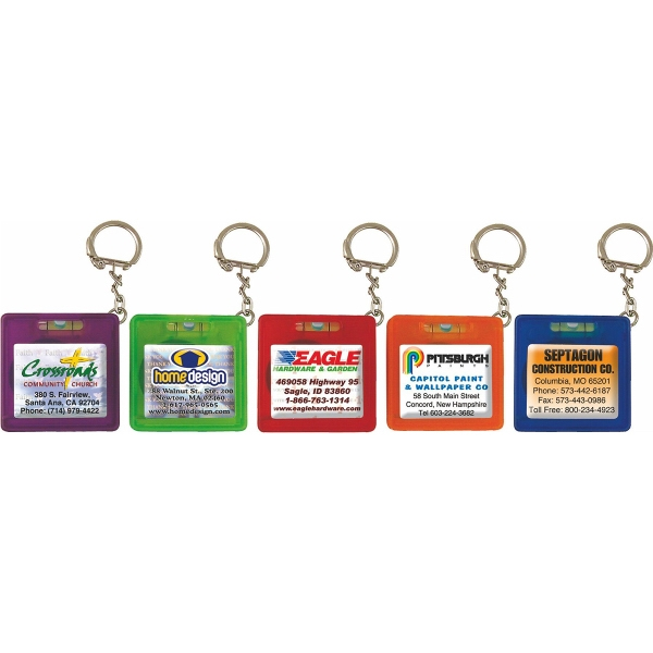 Rio Pocket Level / Tape Measure Key Chain