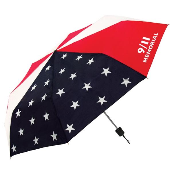 "The Econo Patriot Folding Umbrella - Mini Folding umbrella with patriot design and manual opening, 41"" canopy arc."