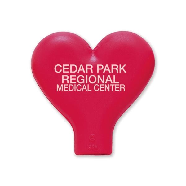 Imprintable Heart Pencil Top Eraser