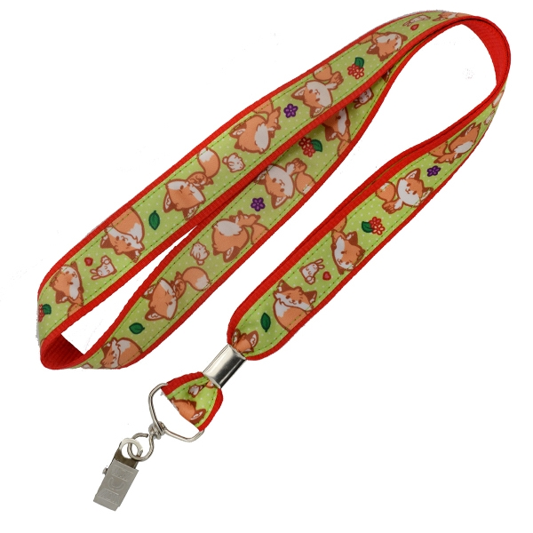Satin Ribbon Full Color Lanyard w/ Buckle Release