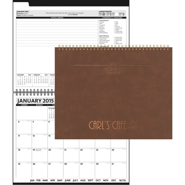 The President Monthly Planner - Leather