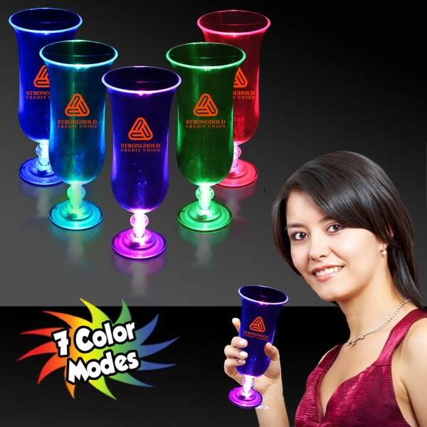 16 oz. Light Up LED Glow Hurricane Glass