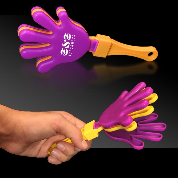 Purple Yellow & Puprle Hand Clapper