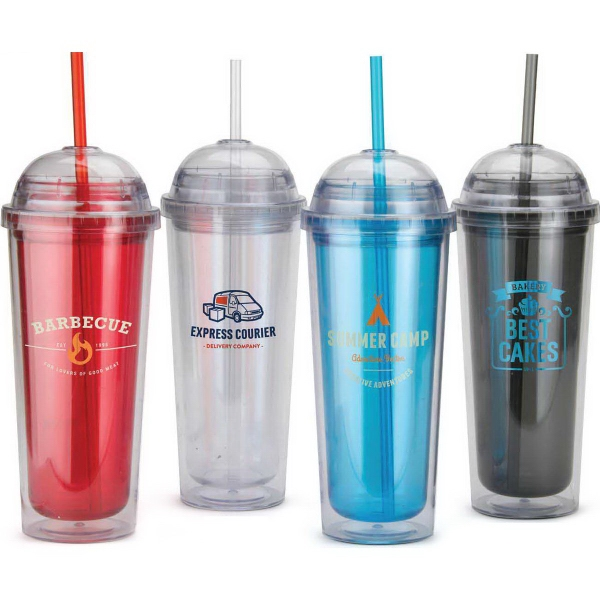 14 oz.BPA Free Clear Tumbler with Domed Lid