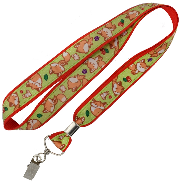 Polyester Satin Overlay Lanyards