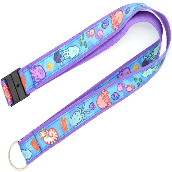 Sublimated Polyester Satin Ribbon Lanyard