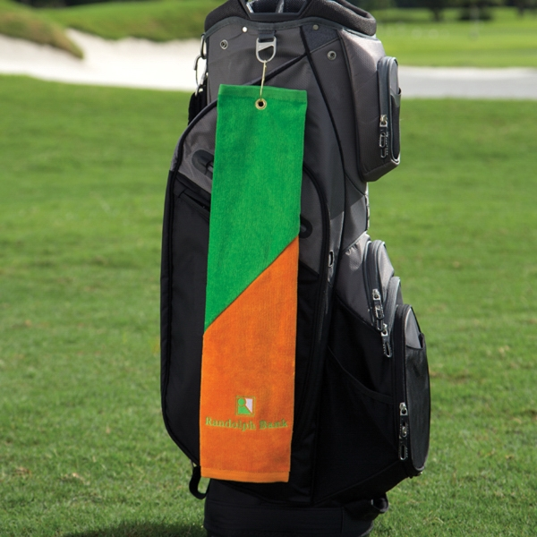 Two-Tone Midweight Golf Towel