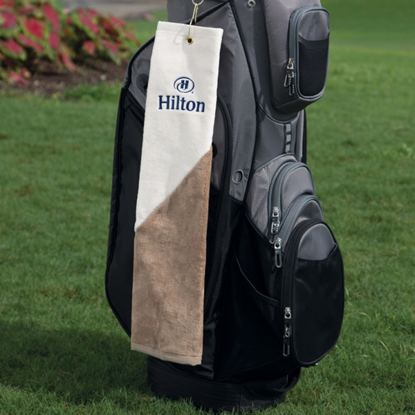 Two-Tone Heavyweight Golf Towel
