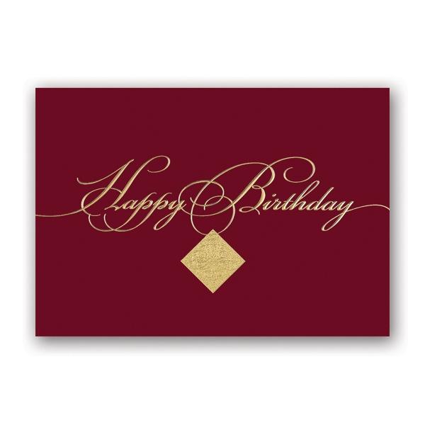 Filigree Birthday Greeting Card