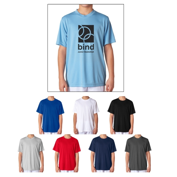 UltraClub (R) Youth Cool & Dry Sport Perform Interlock Tee