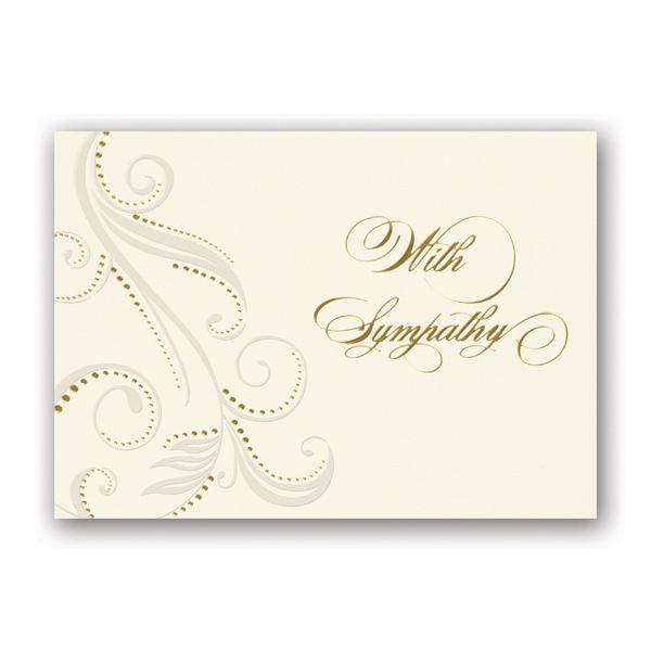 Flourish in Pearl Sympathy Card