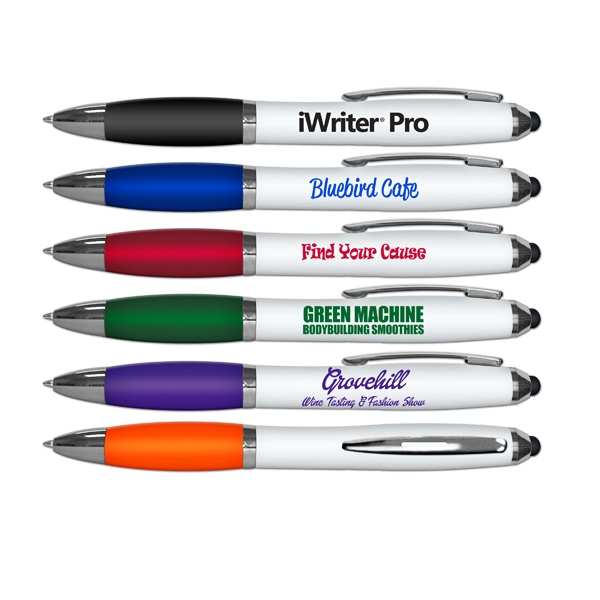 iWriter Pro Stylus & Ball Point Pen Combo - White