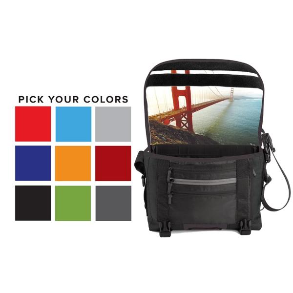 Custom Messenger Bag with Graphic Liner-Medium USA Made