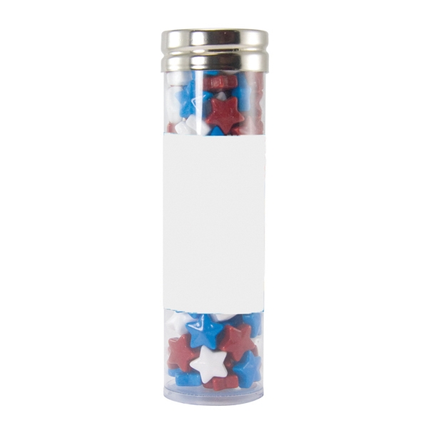 Large Gourmet Plastic Candy Tube with Candy Stars