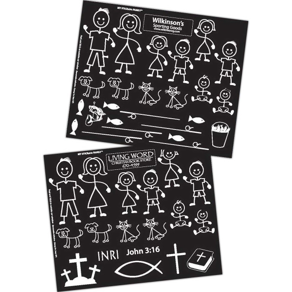 MY STICKable Family (TM) - Custom - Custom Stickable, removable family decals for your vehicle.