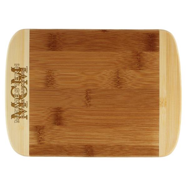 "8"" Two-Tone Cutting Board - Two-Tone cutting board with contrasting border."