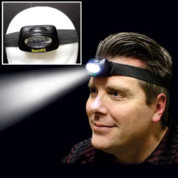 Head LED Light with Elastic Headband