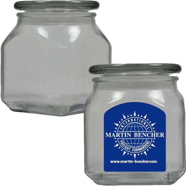 Glass Apothecary Candy Jar with Signature Peppermint - Mints