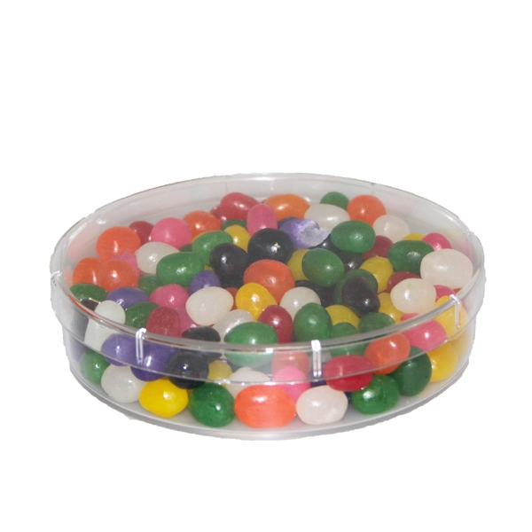 Round Acrylic Show Piece Container with Jelly Beans Candy